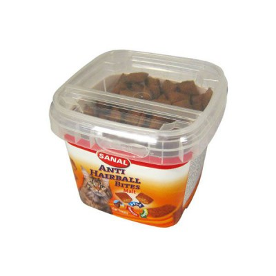 Sanal Anti Hairball Bites Snack para Gatos 75 G