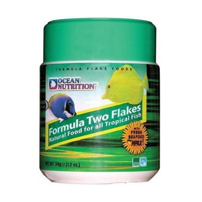 Ocean Nutrition Formula Two Flakes, alimento en escamas con Ajo para peces marinos