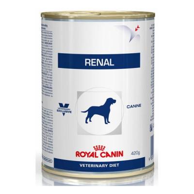 Royal Canin Vet Diet Renal Alimento humedo para perros en lata de 410 gr