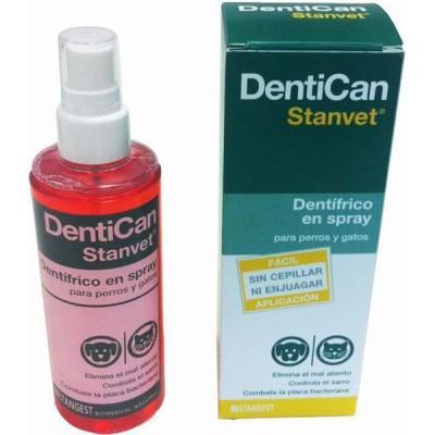 Stanvet Dentican, Dentrífico en spray  para perros y gatos 125 ml