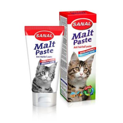 Sanal Malta para gatos Anti hair ball 100 gr