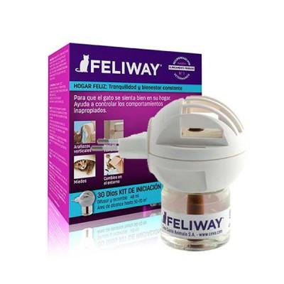 Feliway kit de Iniciacion Difusor con Recambio de 48 ml Feromonas relajantes para gatos