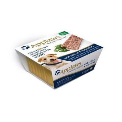 Applaws pate para perros sabor a Salmón en tarrina de 150 gr. Comida Húmeda 100% Natural Super premium
