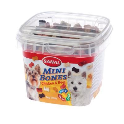 Sanal Mini Bones Snack para Perros de Pollo y Ternera 100 Gr