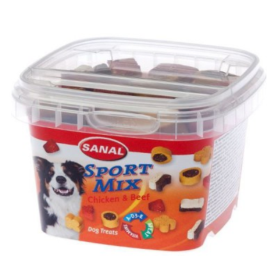 Sanal Sport Mix Snack para Perros de Pollo y Ternera 100 Gr
