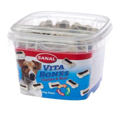 Sanal Vita Bones Snack para Perros de Pollo y Ternera 100 Gr