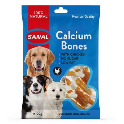 Sanal Calcium Bones Snack para Perros de Pollo 100 Gr