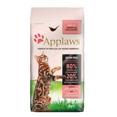 Applaws Feline Adult Pienso seco para gatos adultos  con pollo y salmon 2 kg