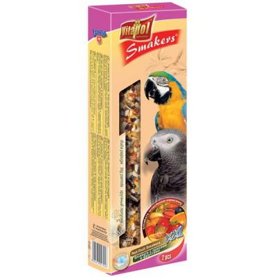 Barritas de Semillas con Nueces y frutas para Loros (2x125g)